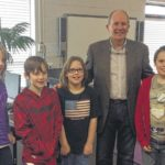 Author stops by West Pelzer Elementary