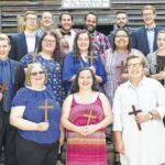 Graduating religion students commissioned