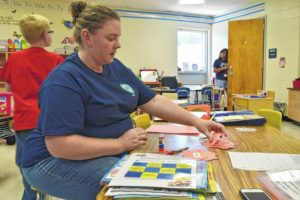 Teachers add finishing touches to their rooms