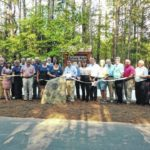 Rotarians work together to build a park