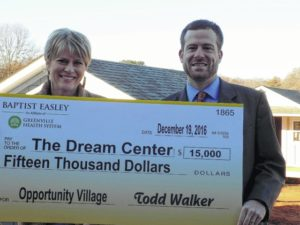 Baptist Easley contributes to Opportunity Village