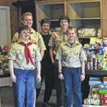 Scouts donate food