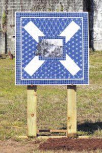 Railroad quilt unveiled