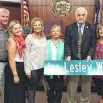 Lesley honored by city